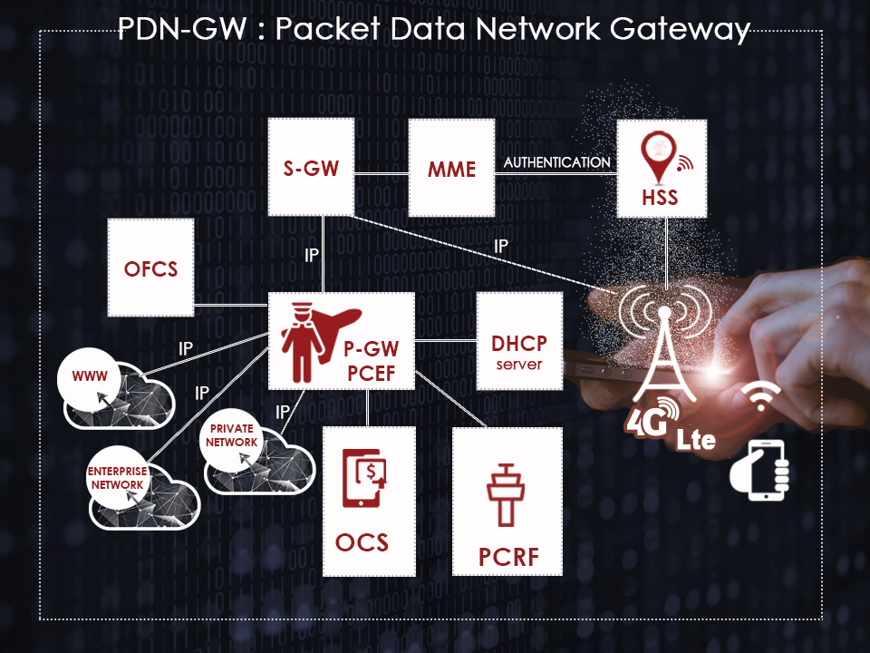 network architecture of the packet data network gateway to deploy your services over 4G Lte