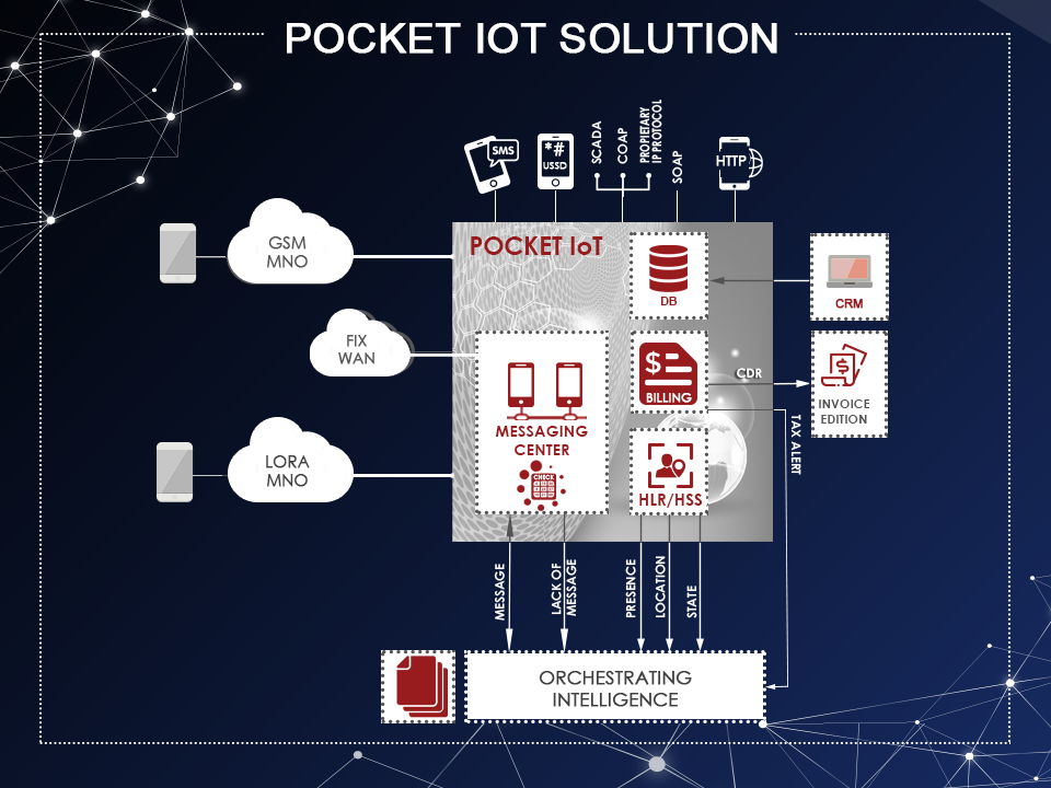 Architecture of Ouroboros Pocket IOT solution