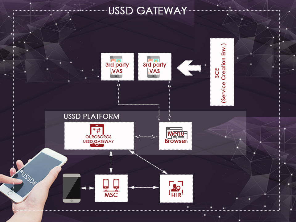 Network architecture of Ouroboros ussd gateway